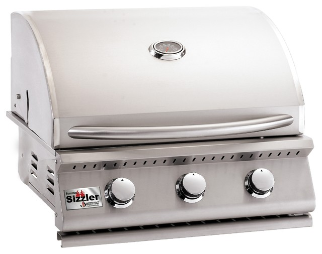 """Summerset Grills 26"""" Sizzler Stainless Steel Propane Gas Grill."""