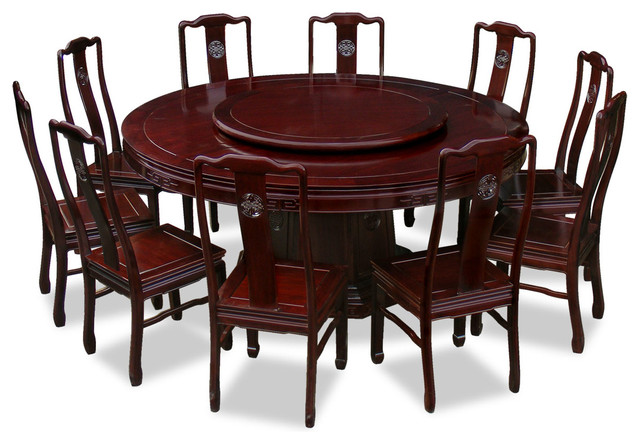 shop houzz china furniture and arts 72 rosewood longevity design round dining table with 10. Black Bedroom Furniture Sets. Home Design Ideas