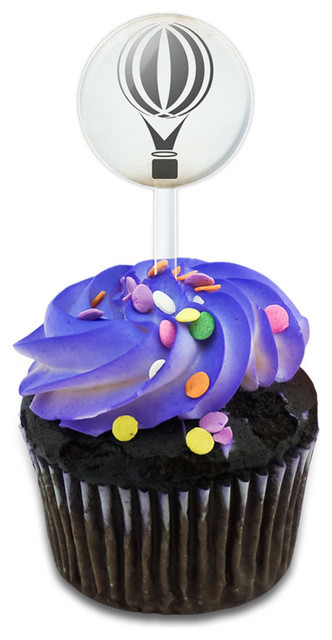Hot Air Balloon Cupcake Toppers Picks Set.