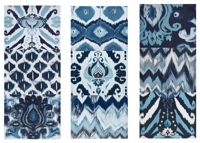 3-Piece Flourish Ikat Gel Coat Canvas Set.