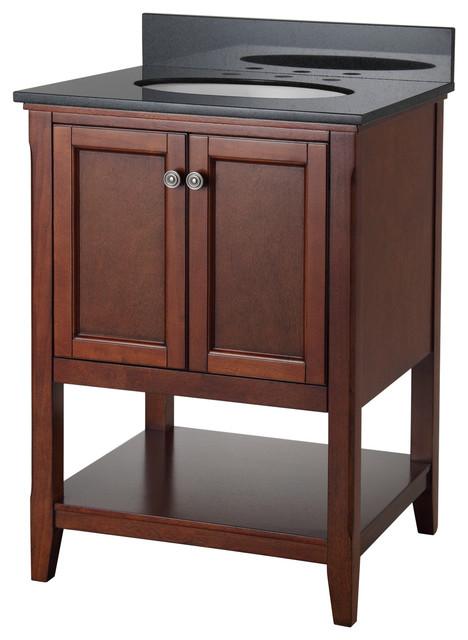 "24 Bathroom Vanity Cabinet With Sink auguste 24"" bathroom vanity, chestnut with two doors and open"