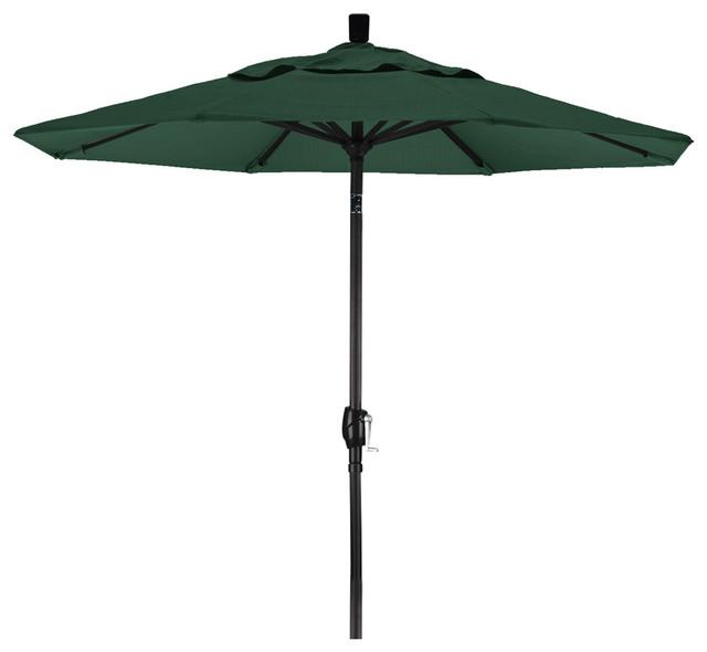 Commercial-Grade 9&x27;, Patio Umbrella With Forest Green Sunbrella Canopy