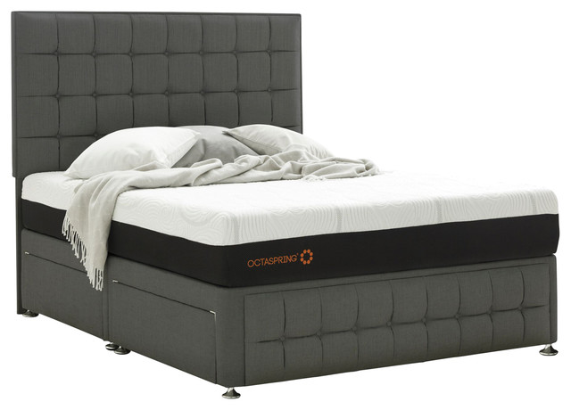 Venice Double Divan With 4 Drawers And Octaspring Mattress Contemporary Divan Beds By
