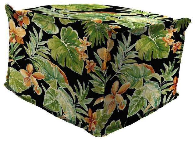 Fabulous Outdoor Pouf Ottoman With Flange Multi Color Squirreltailoven Fun Painted Chair Ideas Images Squirreltailovenorg
