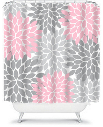 pink grey shower curtain. Pink Gray Polka Dots Shower Curtain Zazzle  Soft Grey And Pattern By Glamourgirls2