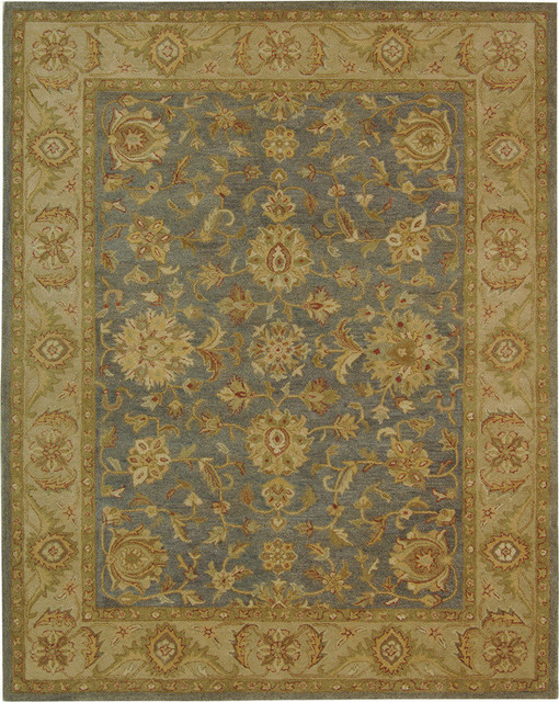 Wool Rug Blue And Beige With Herbal Wash 4 6 Quot X6 6 Quot Oval
