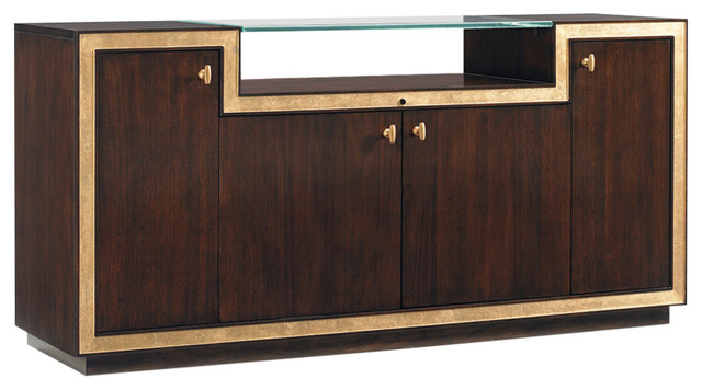 Sligh Bel Aire Palisades Media Console, Brushed Brass - Contemporary - Media Cabinets - by ...