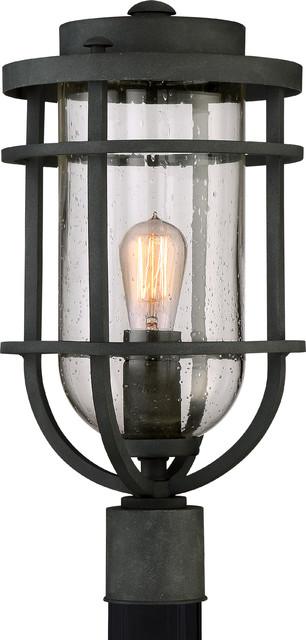 Luxury Nautical Black Outdoor Post Light, Medium, Uql1003, Cape Town Collection