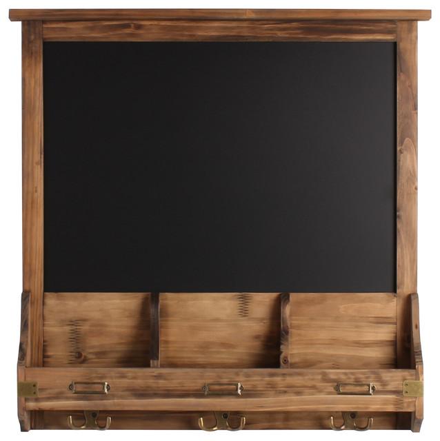 Transitional Nursery With Rustic Wood Wall: Stallard Decorative Rustic Wood Framed Chalkboard With