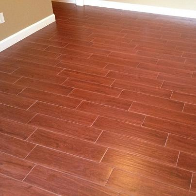 Porcelain Plank Wood Look Tile Installations Tampa Florida Modern