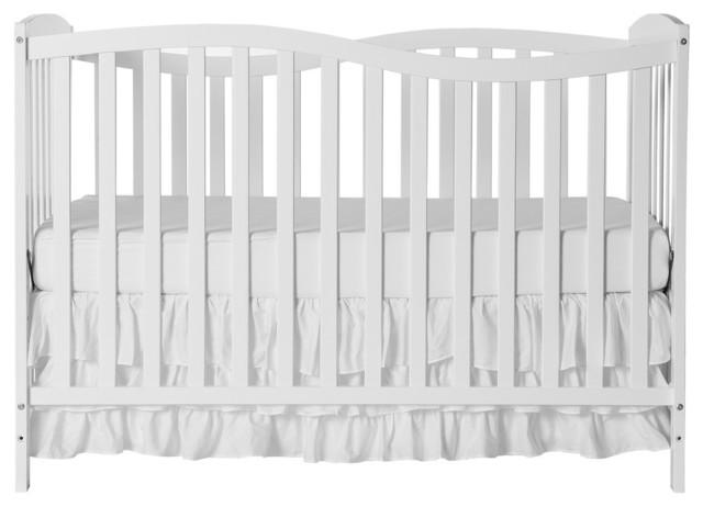 Dream On Me Chelsea 5-in-1 Convertible Crib, White