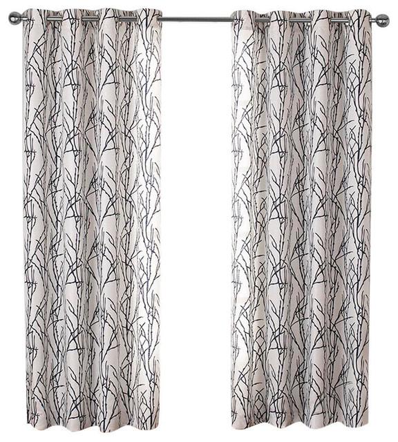 "Curtain Panel, Set Of 2, Indigo, 54""x63""."