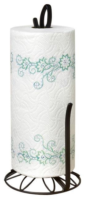 Spectrum Diversified Design - Leaf Paper Towel Holder - Black & Reviews | Houzz