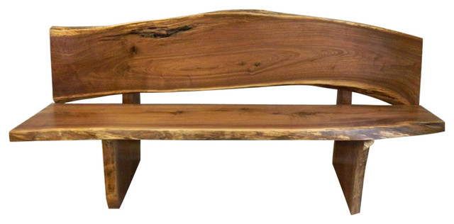 Superb Rustic Live Edge Bench Walnut 72X22 5 Evergreenethics Interior Chair Design Evergreenethicsorg