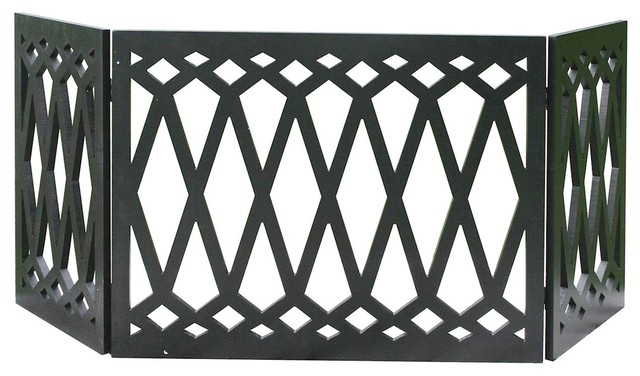 Peachy Etna 3 Panel Diamond Design Wood Pet Gate Tri Fold Dog Fence 48W X 19 Tall Gmtry Best Dining Table And Chair Ideas Images Gmtryco