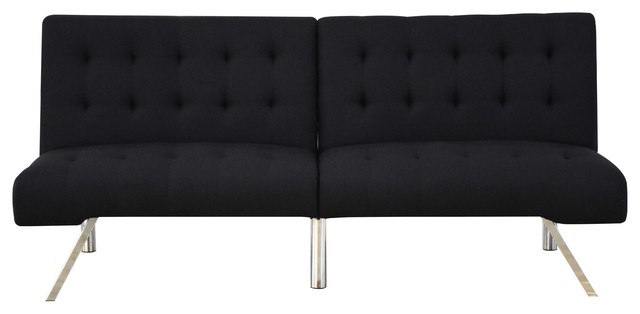 Acme Ascho Ii Adjustable Sofa, Black Linen.