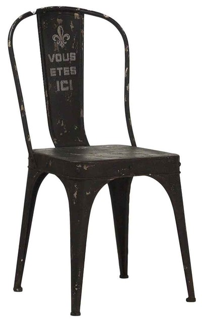 Merveilleux Vous Etes Ici French Iron Rustic Black Cafe Chair   Industrial   Dining  Chairs   By Kathy Kuo Home