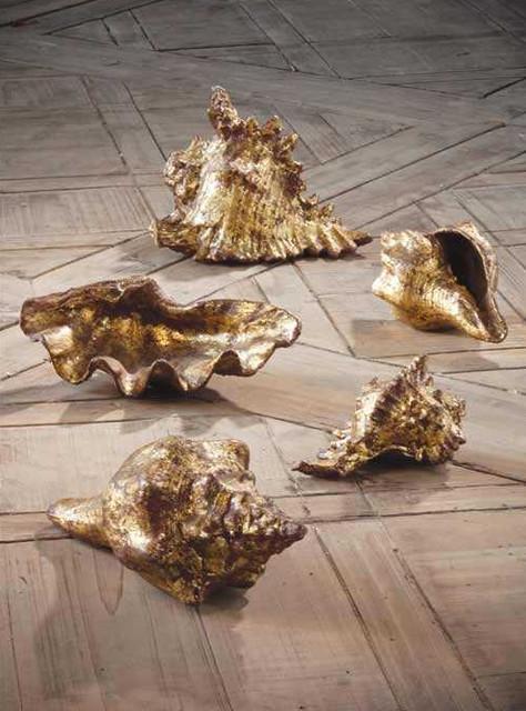 Gold Leafed Shells