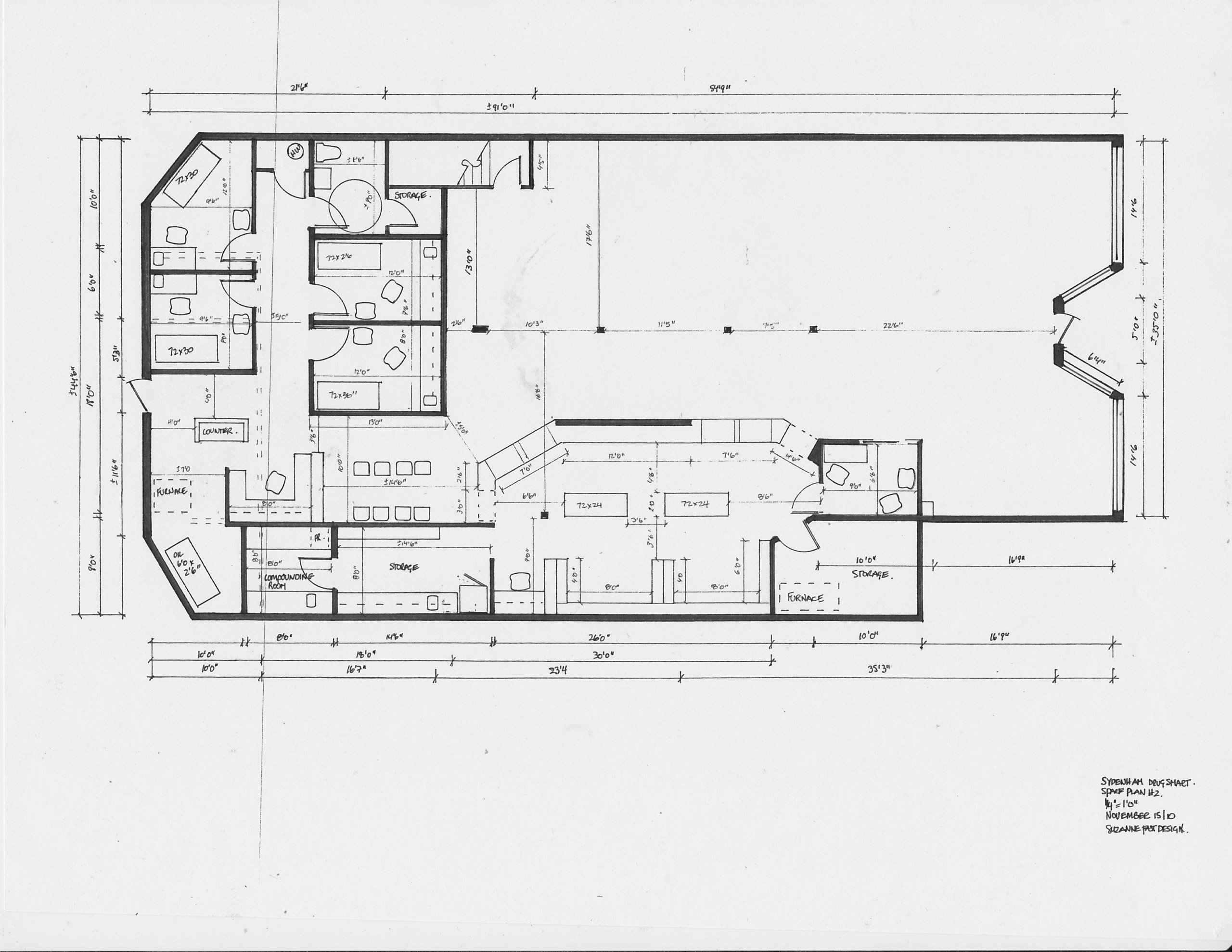 commercial space plans- pharmacy