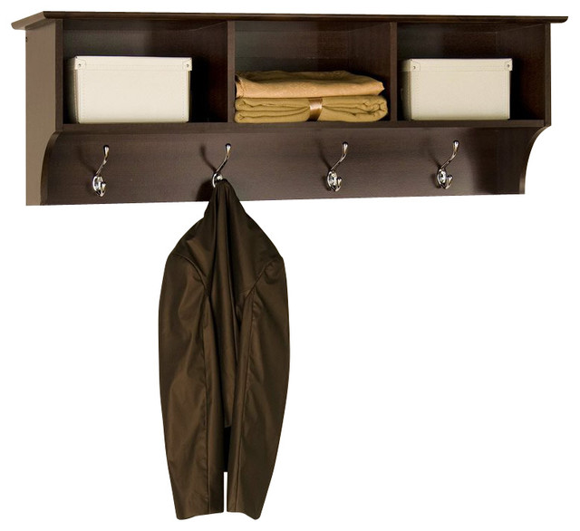 Fremont Entryway Cubby Shelf Coat Rack Espresso
