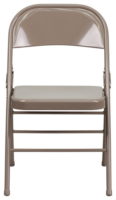 Hercules Triple Braced And Double Hinged Metal Folding Chair Contemporary Outdoor Chairs By Virventures