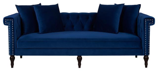 Arla Sofa, Blue Velvet.