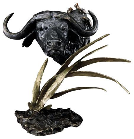 Cape Buffalo Bronze Sculpture