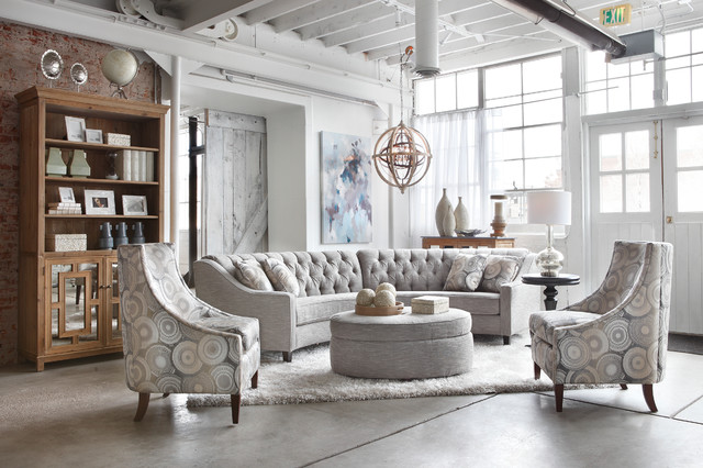 Chandelier Sectional Group Transitional Living Room Denver By Furnitu