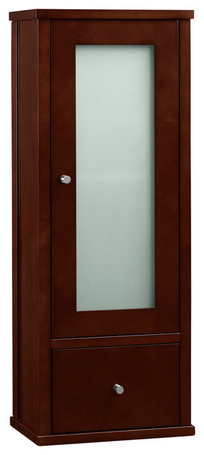 Ronbow Contemporary Bathroom Wall Cabinet, Dark Cherry, 32 ...