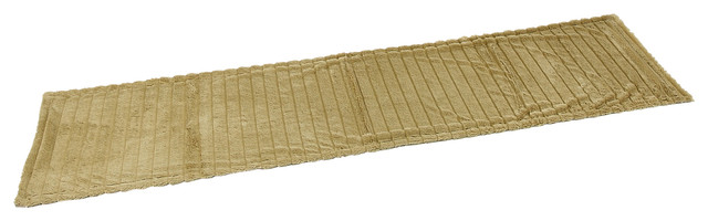 Thick Ribbed Bed Runners, Beige, 50x200 cm, Set of 2