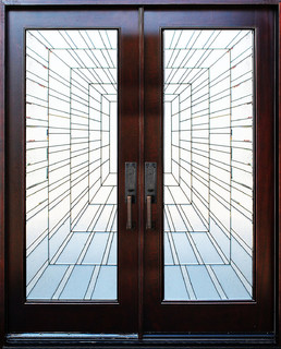 Exterior Front Entry Double Wood Door- Time Tunnel 36X80X2 ...