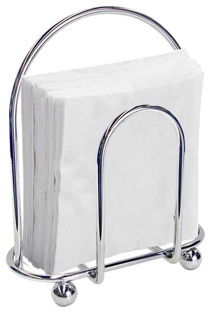 Home Basics Napkin Holder, Chrome contemporary-napkin-holders