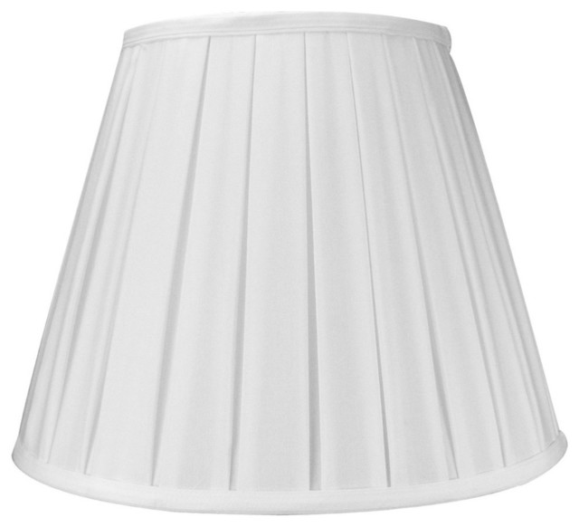 Empire Box Pleat Coolie Shade, White