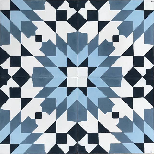 Casablanca Blue Cement Moroccan Tile Set Of 13 8x8