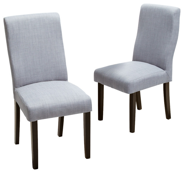 gdfstudio heath fabric dining chairs gray set of 2 dining chairs