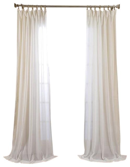 "Emery Sheer Linen Panel, Ivory, 50""x96"". -1"
