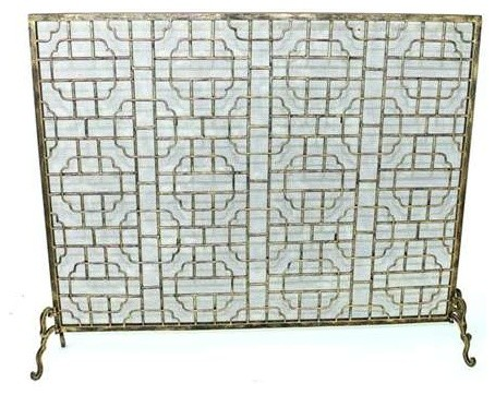 Light Burnished Gold Geometric Fire Screen By Dr Livingstone I Presume  Fireplace Screens  Dr Livingstone I Presume Furniture