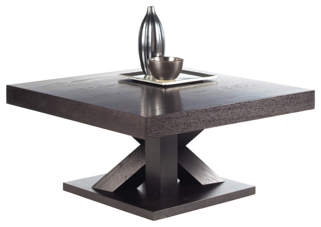 Madero Espresso Coffee Table Contemporary Coffee Tables by
