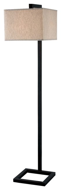 4 Square Floor Lamp, Oil Rubbed Bronze Finish, Oil Rubbed Bronze Finish.