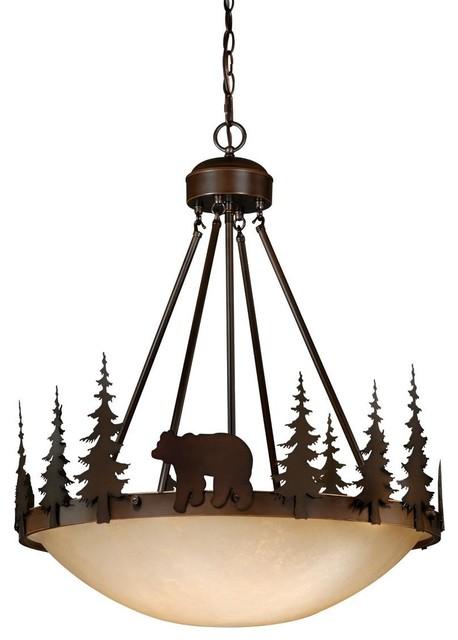 Vaxcel bozeman 24 bowl pendant light pendant lighting for Houzz rustic lighting