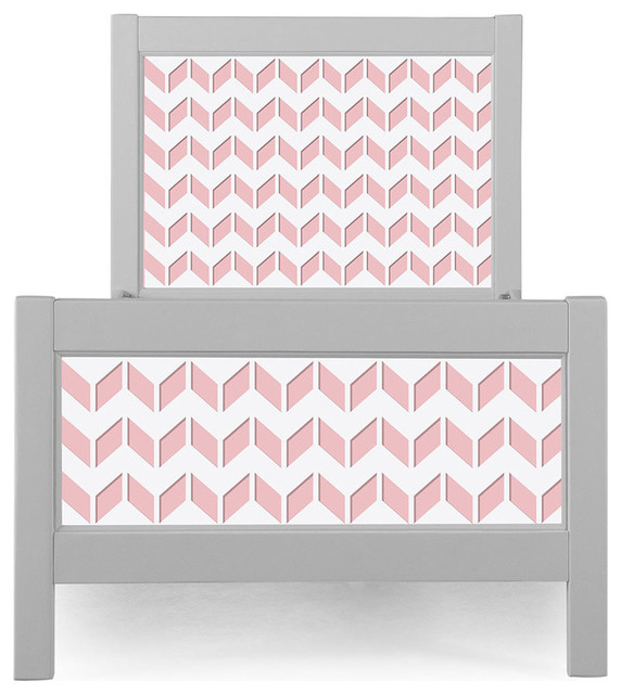 P&x27;kolino Chevron Nesto Twin Bed, Pink.