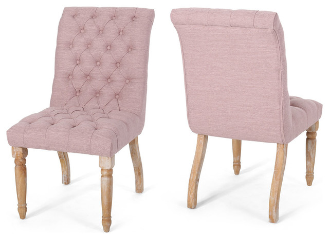 Terrance Tufted Fabric Dining Chair, Set of 2