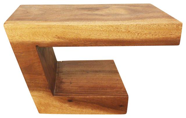 Sustainable Monkey Pod Wood Balance Table, Livos Walnut Oil Finish.