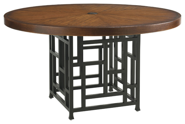 lexington round dining table black kingstown ocean club resort with drake