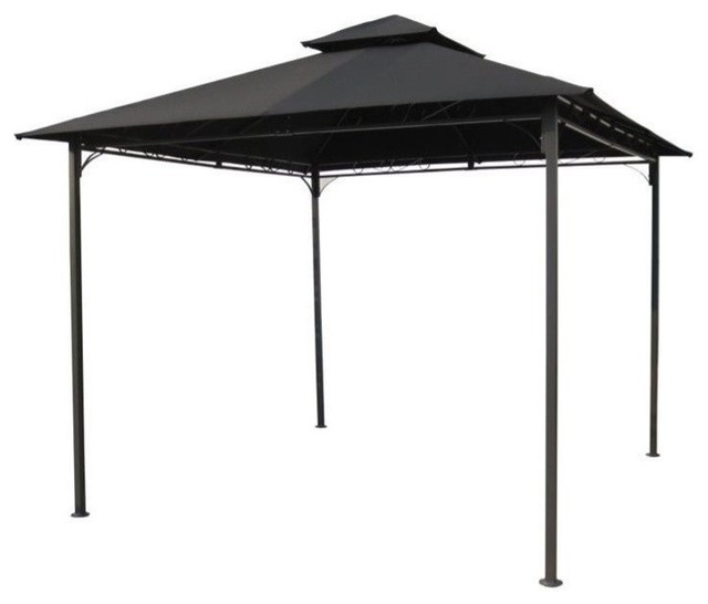 Pemberly Row Outdoor Canopy Gazebo, Black.