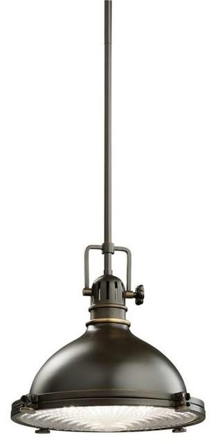 Kichler Lighting 2665OZ Hatteras Bay Arts and Crafts/Mission Pendant Light farmhouse-pendant-  sc 1 st  Houzz & Kichler Lighting 2665ACO Hatteras Bay Traditional Pendant Light ... azcodes.com