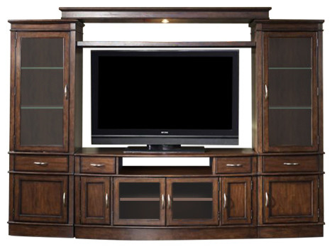 Liberty Furniture Hanover Entertainment Center With Piers Traditional