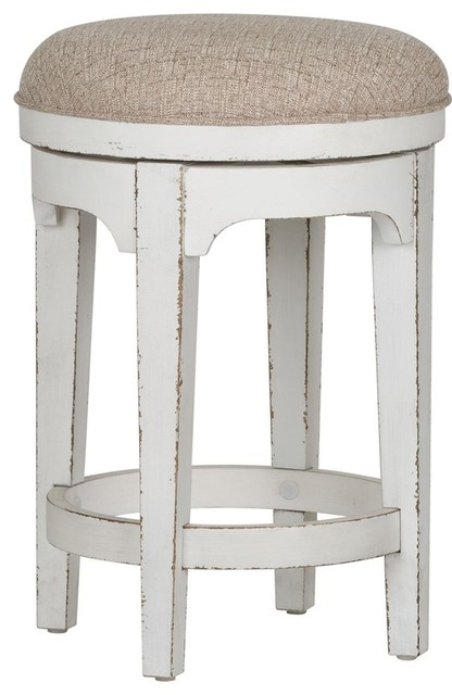 Tremendous Liberty Magnolia Manor Console Swivel Stool Antique White Unemploymentrelief Wooden Chair Designs For Living Room Unemploymentrelieforg