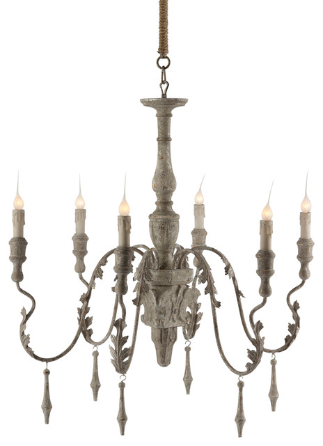 Charlemagne french country grey wash 6 light chandelier charlemagne french country grey wash 6 light chandelier aloadofball Image collections