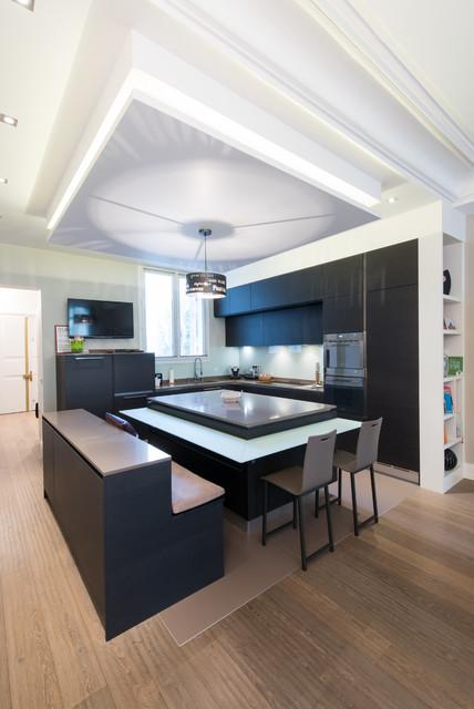 am nagement cuisine ouverte sur salle de s jour. Black Bedroom Furniture Sets. Home Design Ideas